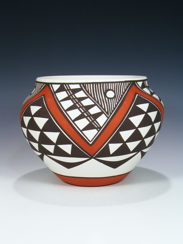 Acoma Pueblo Hand Coiled Painted Pottery
