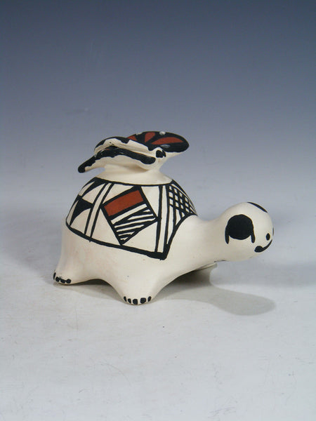 Acoma Pueblo Hand Made Pottery Storyteller Turtle