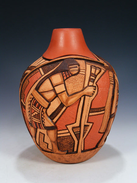 Large Hopi Hand Coiled Pottery Olla