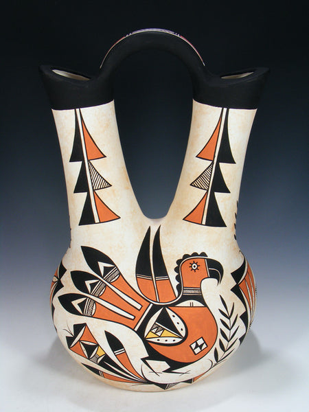 Acoma Pueblo Pottery Painted Wedding Vase