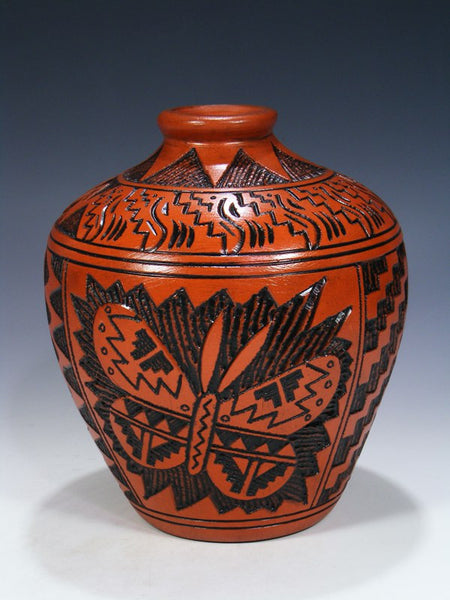 Large Navajo Etched Pottery Vase