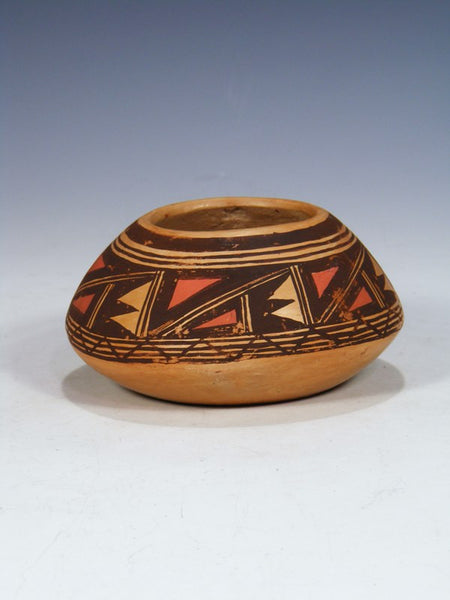 Vintage Hopi Hand Coiled Pottery Seed Pot