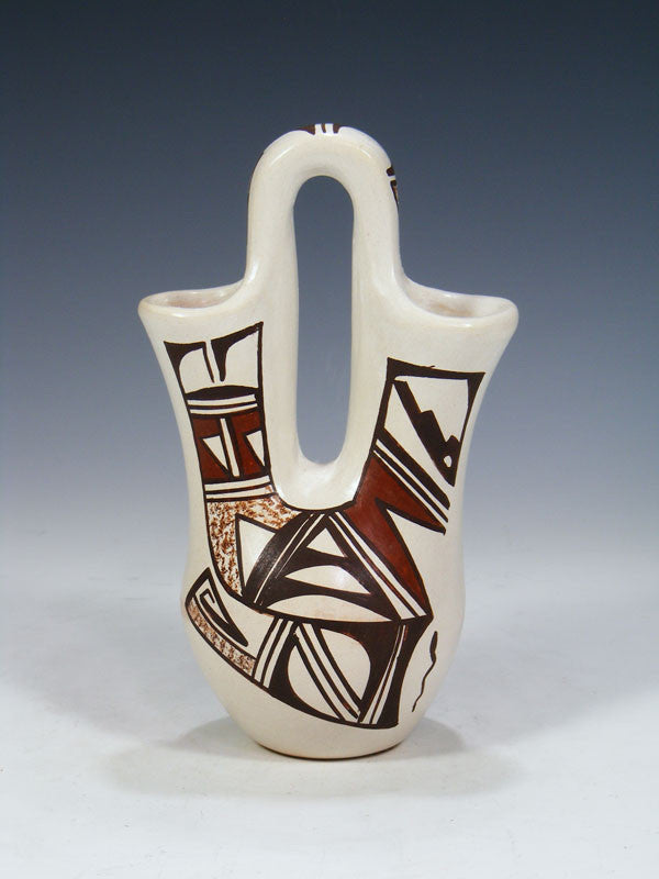 Hopi Hand Coiled Pottery Wedding Vase by Grace Navasie - PuebloDirect.com - 1