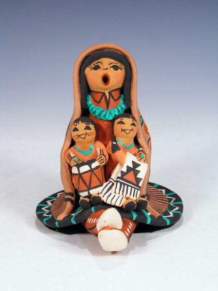 Jemez Pueblo Pottery 2 Children Storyteller