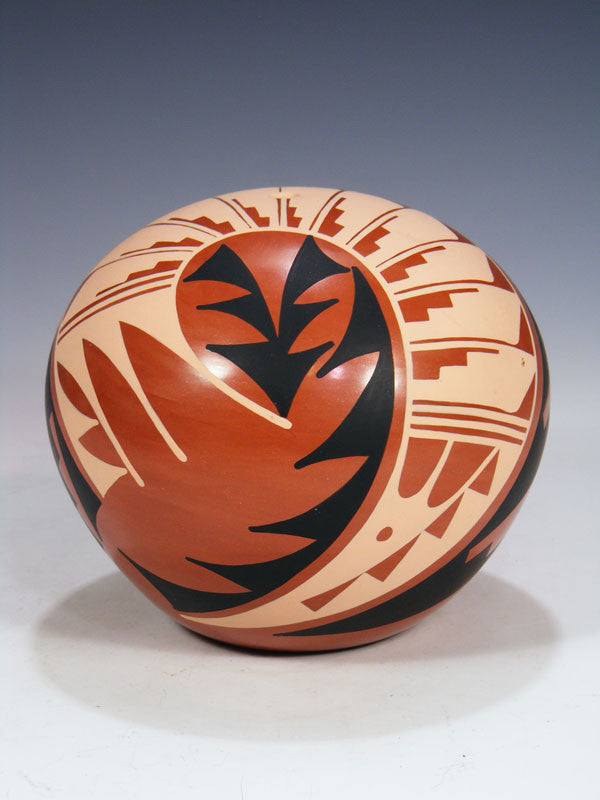 Jemez Pueblo Pottery Seed Pot by Mary H. Loretto - PuebloDirect.com - 1