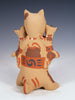 Jemez Pueblo Pottery Storyteller Cat Family by Bonnie Fragua - PuebloDirect.com - 2