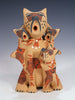 Jemez Pueblo Pottery Storyteller Cat Family by Bonnie Fragua - PuebloDirect.com - 1