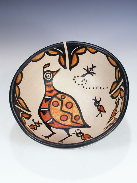 Santo Domingo Pueblo Pottery Bowl by Rose Pacheco - PuebloDirect.com - 1