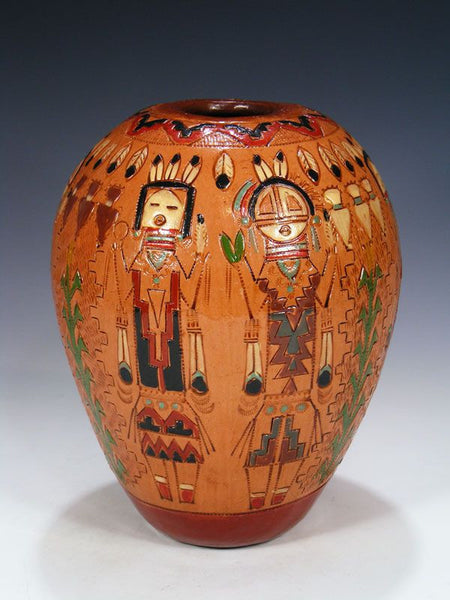 Santo Domingo Pueblo Pottery Vase by Ken and Irene White - PuebloDirect.com - 1