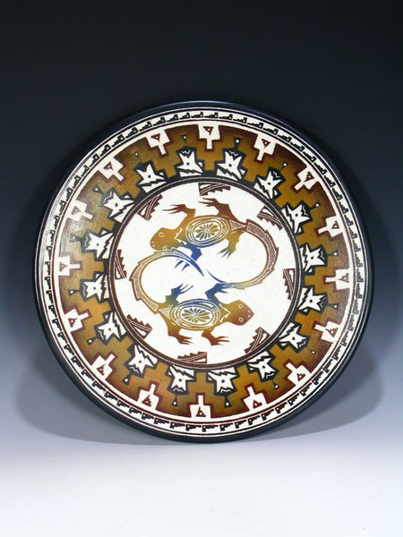 Acoma Pueblo Etched Pottery Plate