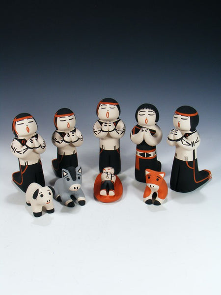 Cochiti Pueblo Pottery Storyteller Nativity Set