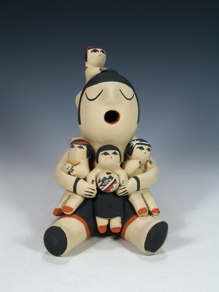Jemez Pueblo Pottery 4 Child Storyteller Figurine