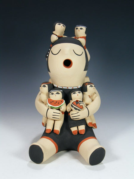 Jemez Pueblo Pottery 6 Children Storyteller Doll Figure