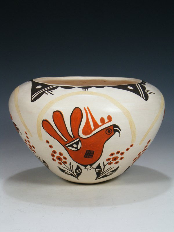 Acoma Pueblo Parrot Hand Coiled Seed Pot