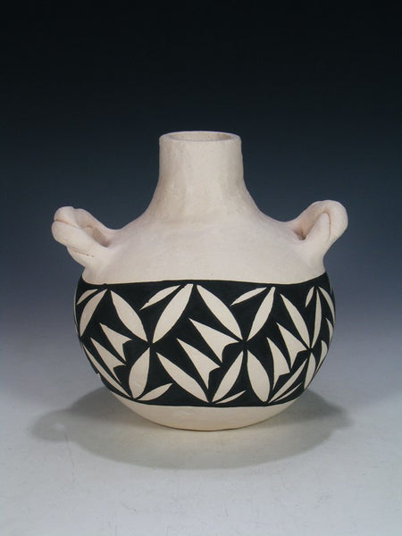 Acoma Hand Coiled Pueblo Pottery Canteen