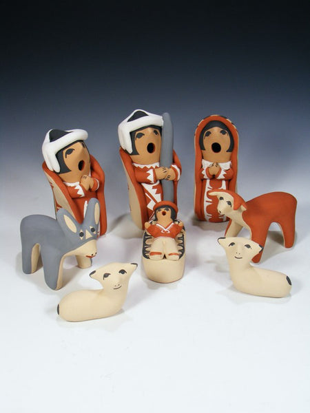 Jemez Pueblo Pottery Nativity Set