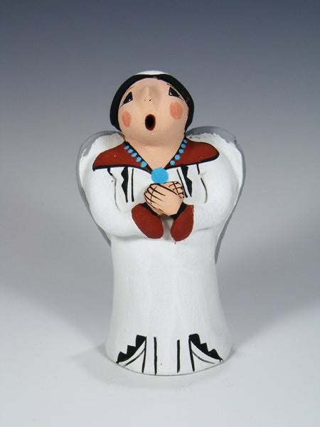 Jemez Pueblo Pottery Angel Storyteller Figure