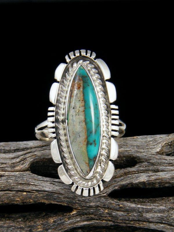 Boulder Turquoise Ring, Size 7