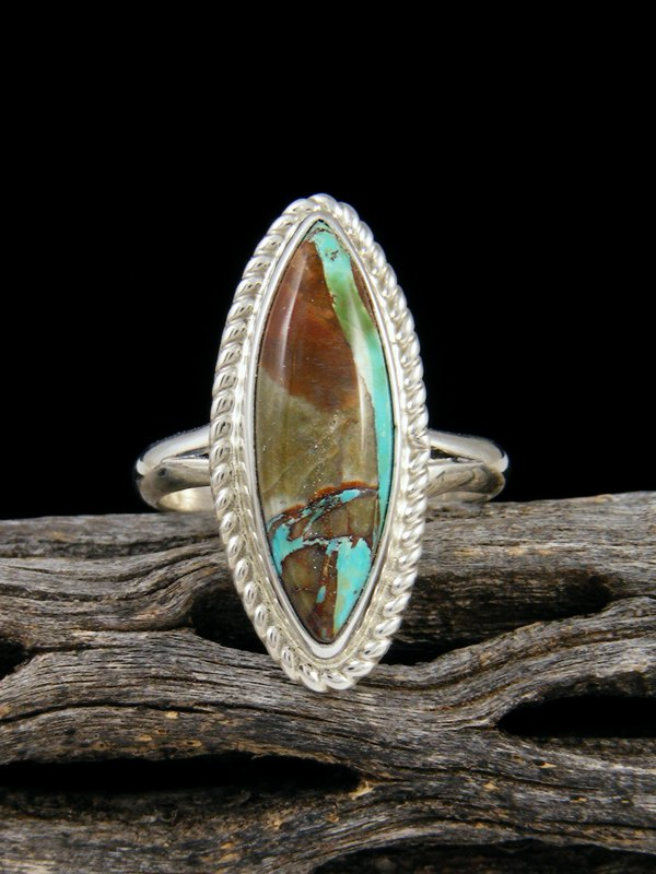 Boulder Turquoise Ring, Size 8