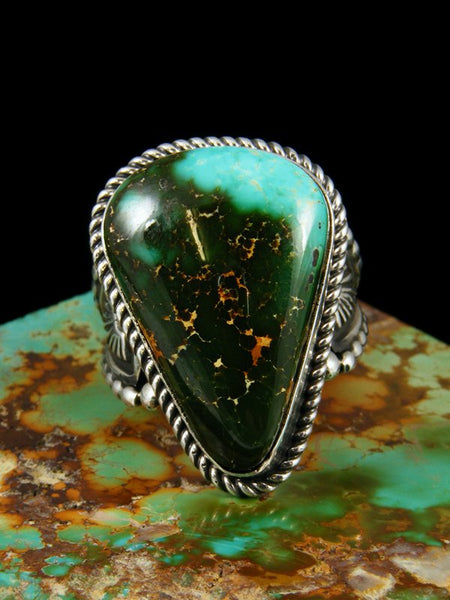 Natural Royston Sterling Silver Turquoise Ring, Size 7.5