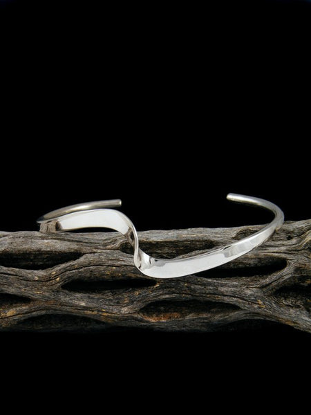 Navajo Sterling Silver Single Wave Cuff Bracelet