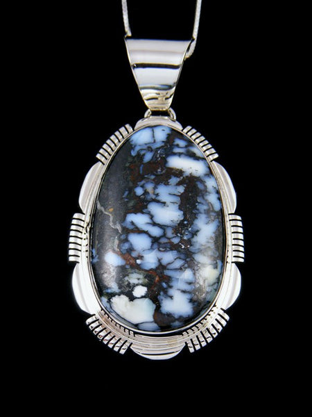Native American Wild Blue Sterling Silver Pendant