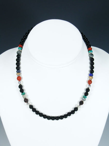 "16"" Onyx Single Strand Necklace"