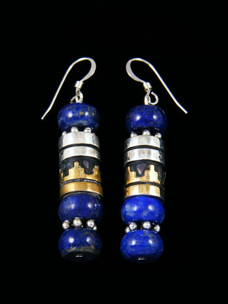 Navajo Lapis Dangle Earrings