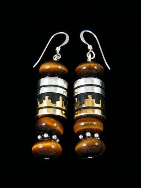 Navajo Tiger's Eye Dangle Earrings