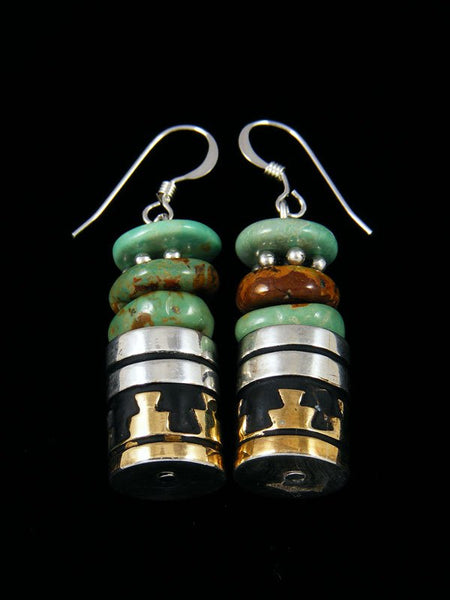 Navajo Turquoise Dangle Earrings