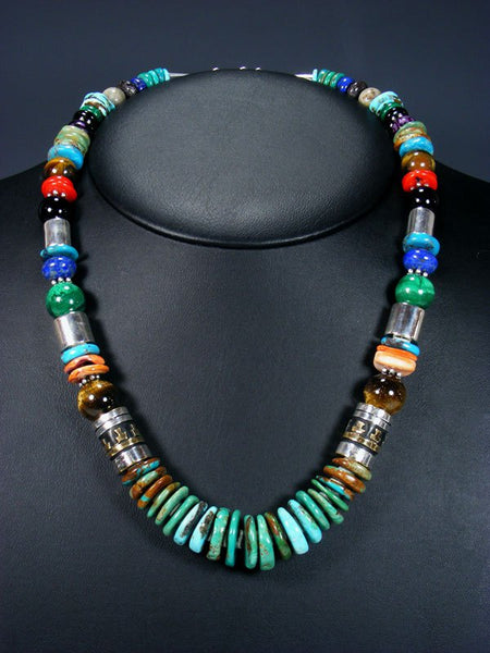 "21"" Turquoise Large Single Strand Beaded Necklace"