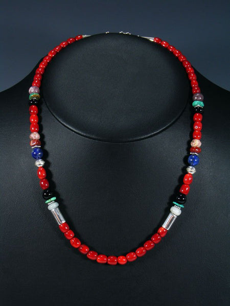 "20"" Single Strand Beaded Coral Necklace"