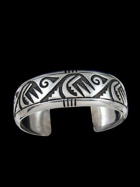 Sterling Silver Overlay Cuff Bracelet