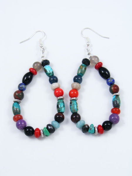 Multistone Dangle Earrings