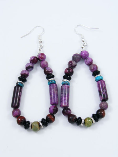 Dyed Jasper Multistone Dangle Earrings