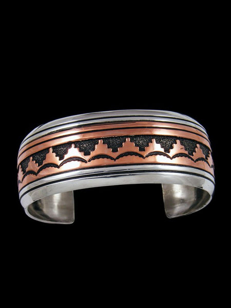 Native American Copper and Sterling Silver Overlay Bracelet