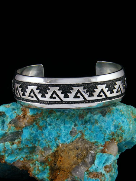 Native American Indian Jewelry Hand Crafted Overlay Bracelet