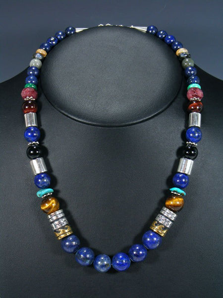 "Lapis 21"" Single Strand Bead Necklace"