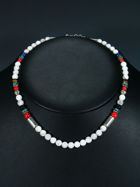 "16"" Marble Beaded Single Strand Necklace"