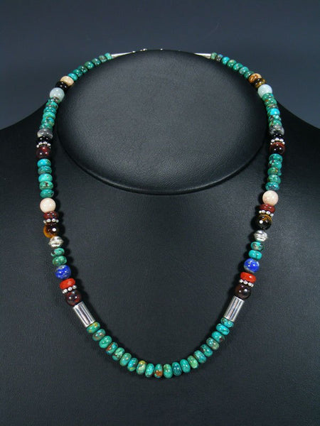 "Navajo Turquoise 20"" Single Strand Necklace"