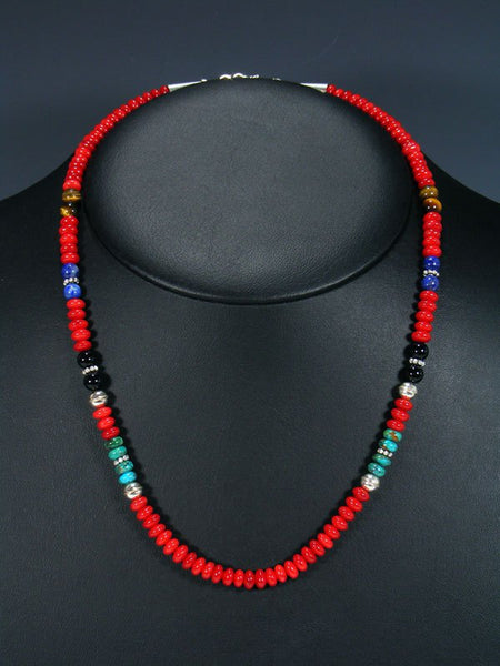 "Navajo Coral 20"" Single Strand Necklace"