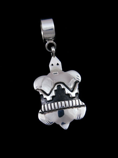 Copy of Native American Sterling Silver Overlay Turtle Pendant