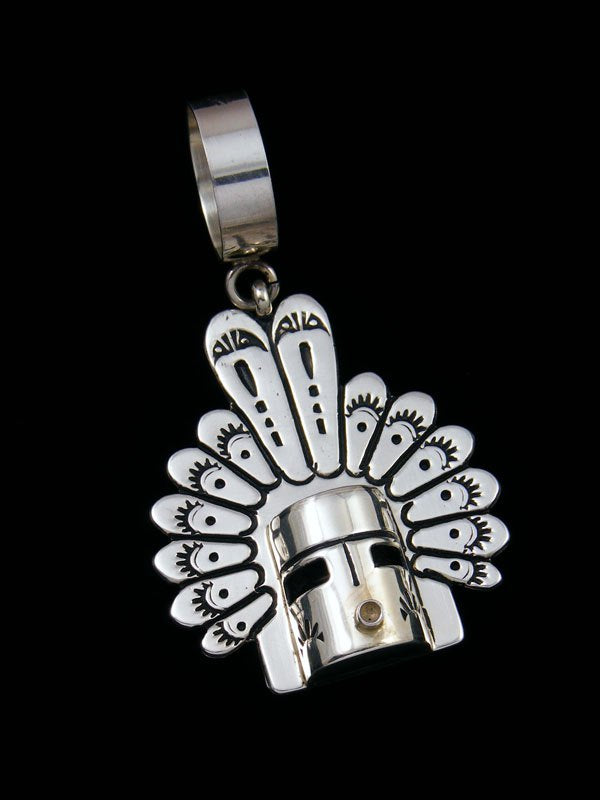 Native American Sterling Silver Overlay Kachina Pendant By Tommy And Rosita Singer At Pueblodirect Com