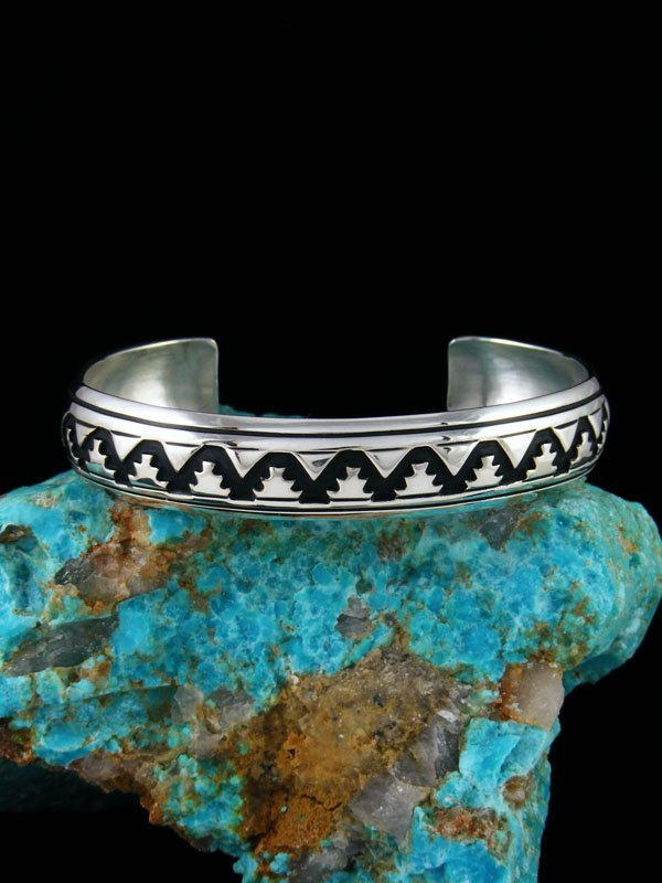Native American Sterling Silver Hand Crafted Bracelet By Tommy And Rosita Singer At Pueblodirect Com