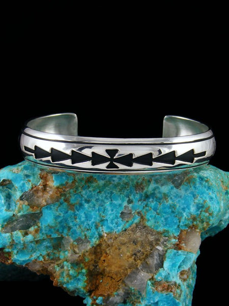 Native American Sterling Silver Hand Crafted Bracelet