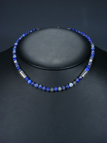 "16"" Lapis Single Strand Beaded Necklace"