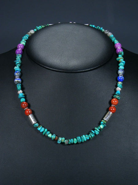 "20"" Single Strand Beaded Turquoise Necklace"