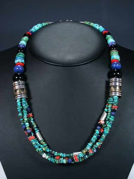 "24"" Turquoise Multi Strand Bead Necklace"
