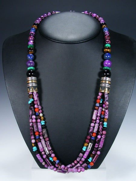 "Dyed Jasper 30"" Multi Strand Beaded Necklace"