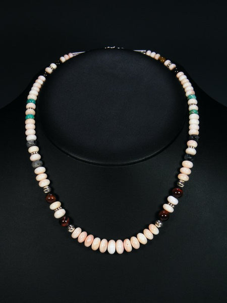 "Shell 18"" Single Strand Choker Bead Necklace"